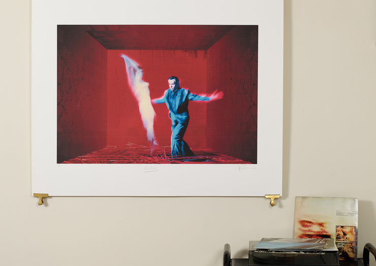 Scale photo of Peter Gabriel Us art print by David Scheinmann