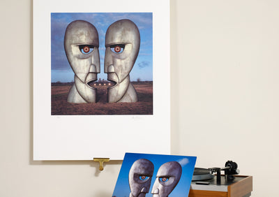 Scale Photo of Pink Floyd Division Bell Metal Heads by Storm Thorgerson inkjet print