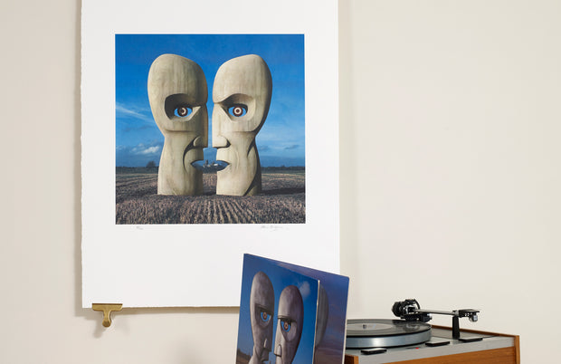 Scale Photo of Pink Floyd Division Bell Stone Heads by Storm Thorgerson inkjet print