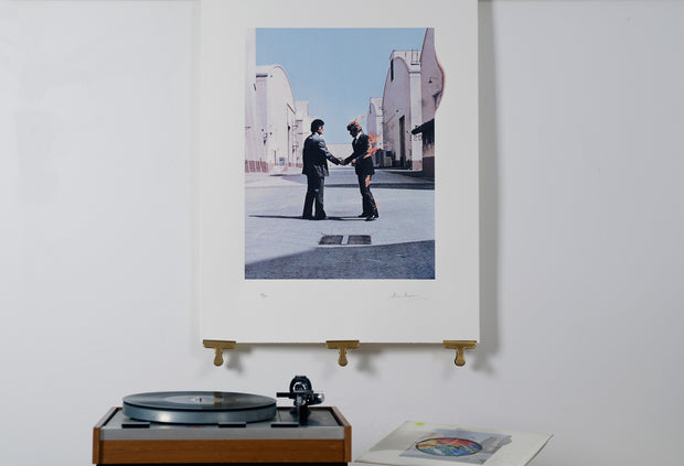 Scale photo of Pink Floyd Wish You Were Here album art print by Hipgnosis