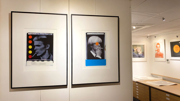 David Bowie prints by Gray on exhibition at Hypergallery