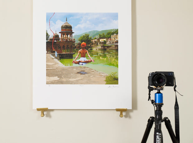 Scale photo of Shpongle Skipping Sadhu art print by Storm Thprgerson