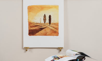 Scale photo of Syd Barrett album art print by Storm Thorgerson