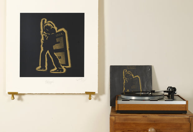 Scale photo of T. Rex Electric Warrior album art print by Hipgnosis