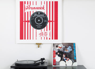 Scale photo of The Who I Can't Explain silkscreen print by Vincent McEvoy