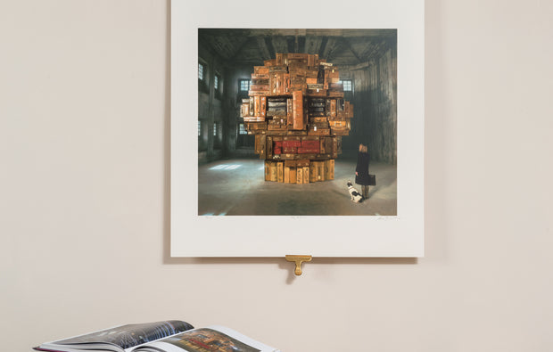 Scale photo of limited edition Storm Thorgerson print Tiny Pictures