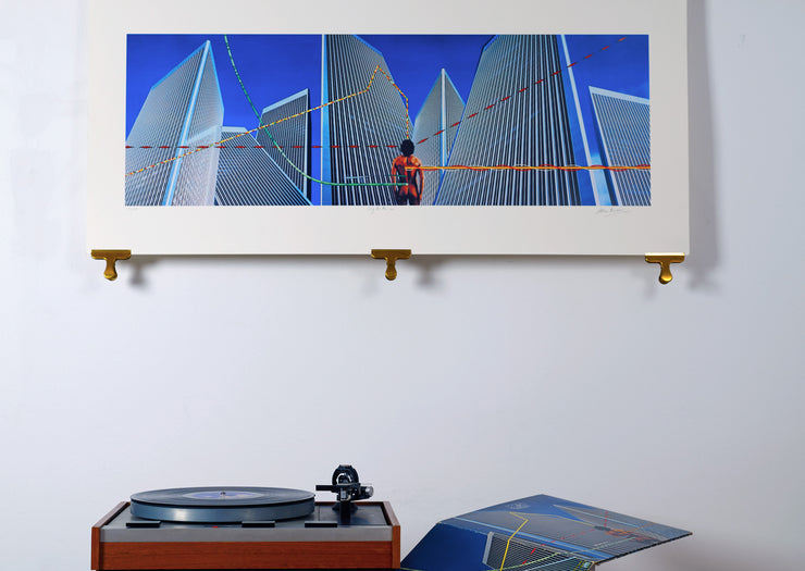Scale photo of Yes Going For The One silkscreen print by Hipgnosis
