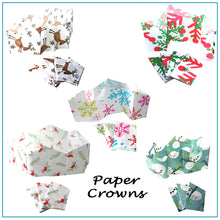Load image into Gallery viewer, Handmade Christmas Cracker Paper Hat Crowns