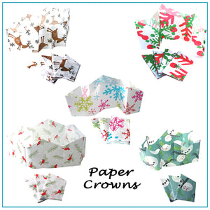 Handmade Christmas Cracker Paper Hat Crowns