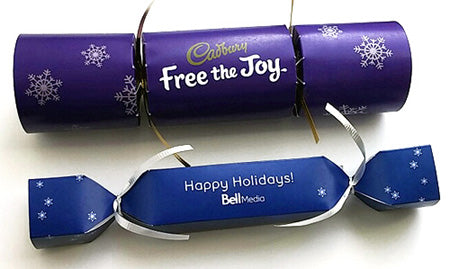 Branded Logo Crackers for Cadbury and Bell Media