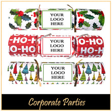 Load image into Gallery viewer, Branded Logo Christmas Crackers for Corporate Parties