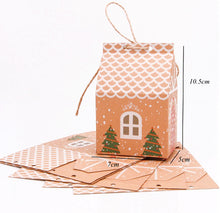 "Load image into Gallery viewer, Party Favours for Corporate Events - ""Gingerbread House"" Measurements"