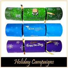 Load image into Gallery viewer, Branded Logo Crackers for Corporate Holiday Campaign Launches