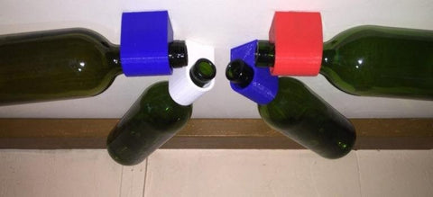 20 3D Prints Ideas for Your Kitchen 3D Print wine bottle holder