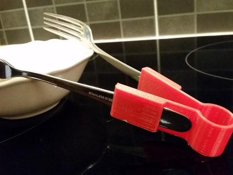 20 3D Prints Ideas for Your Kitchen 3D Print Fork Tong