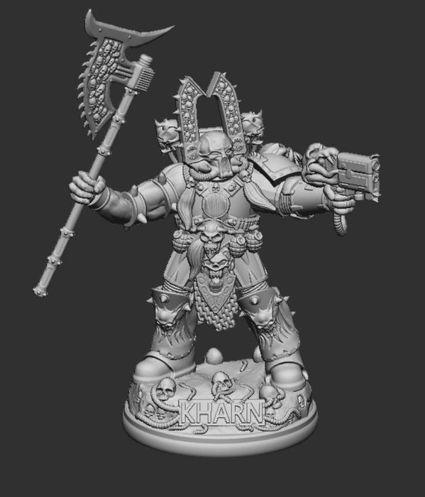 Kharn the Betrayer Figure STL