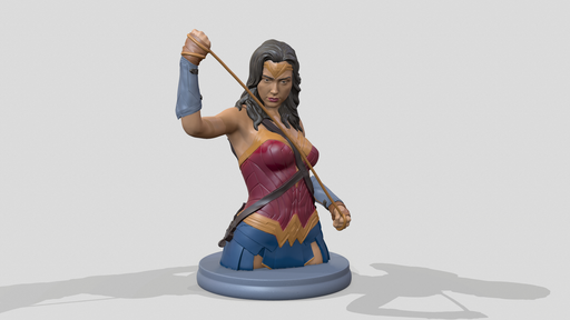 Wonder Woman Bust STL