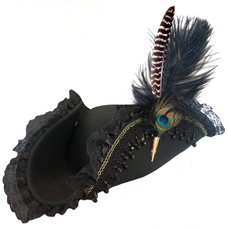Deluxe Tricorn Hat w/ Quill