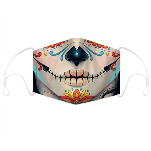 Face Mask - Day of the Dead Washable Unisex Face Mask