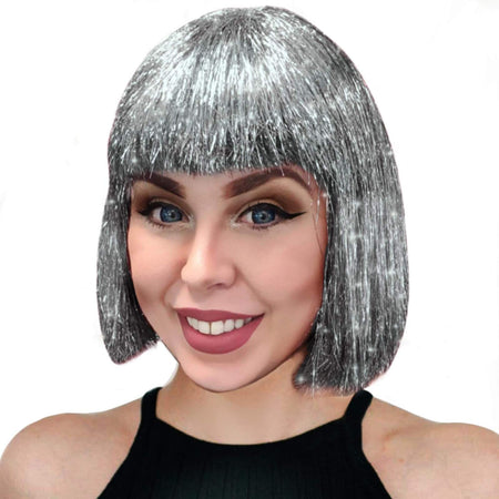 Silver Sparkle Wig
