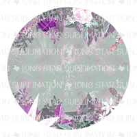 Coaster - Purple Floral