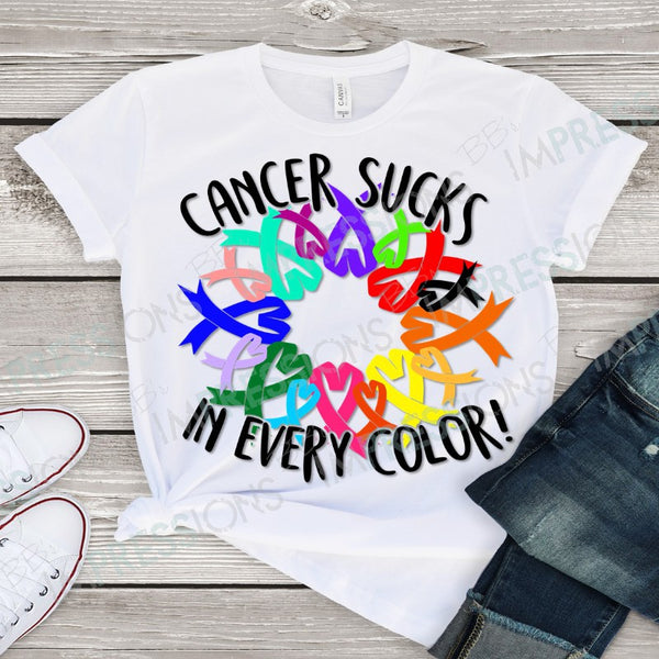 Cancer Sucks in Every Color