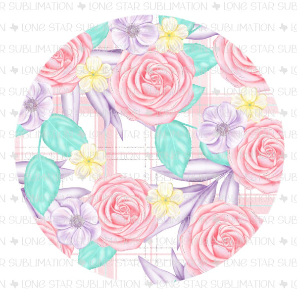 Coaster - Floral Plaid