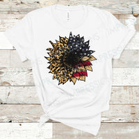 Leopard & American Flag Sunflower
