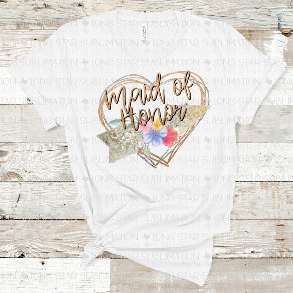 Maid of Honor - Glitter with Hearts and Arrow