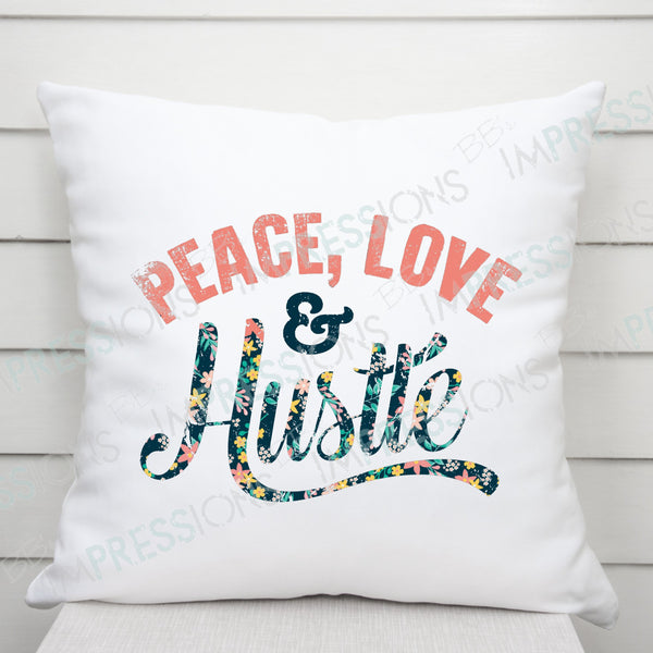 Peace Love & Hustle Yellow Floral