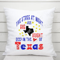 The Stars at Night, are Big and Bright, Deep in the Heart of Texas