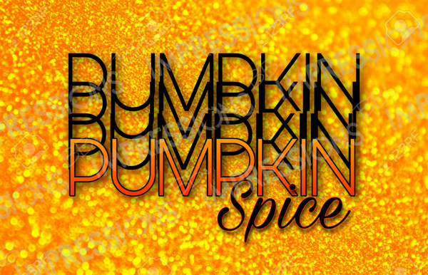 Pumpkin Spice - Orange Glitter