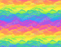 Rainbow Clouds Pattern