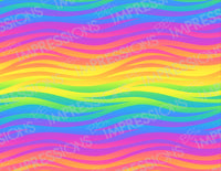 Rainbow Waves Pattern