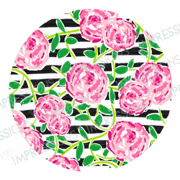 Coaster - Lilly Floral & Stripes