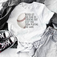 Fear Of Striking Out - Baseball