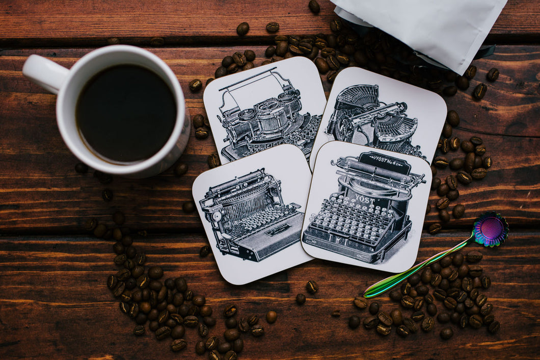 Writer, Author, and Editor Coaster Set