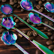 Load image into Gallery viewer, Rainbow Floral Stir Spoons