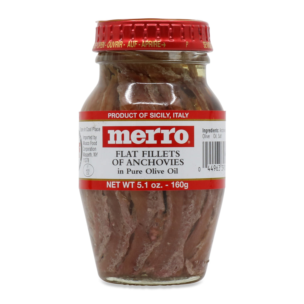 Merro - Flat Fillets of Anchovies - 160g (5.1 oz)