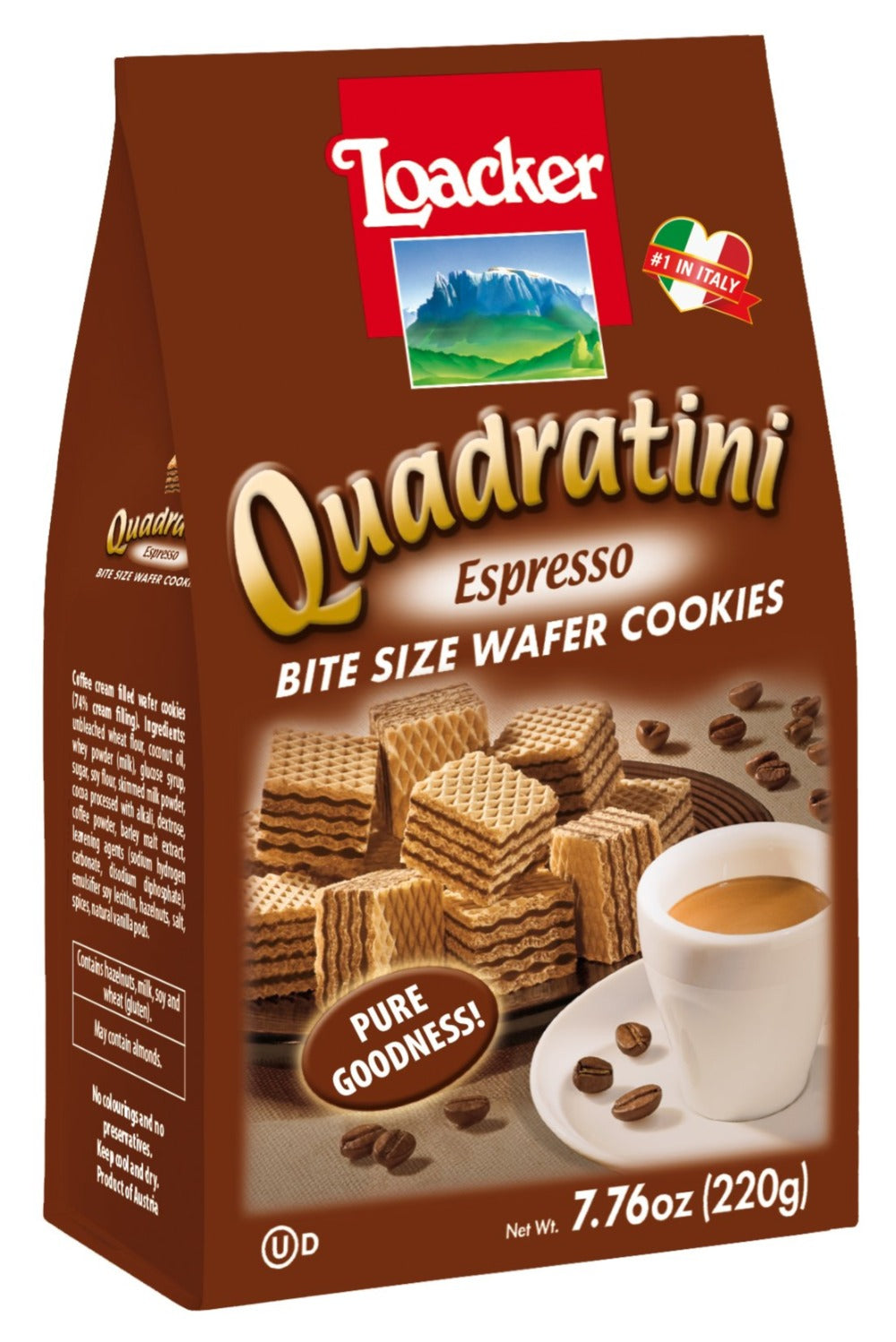 Loacker - Quadratini Espresso Wafer - 7.76 oz