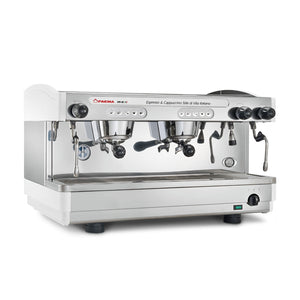 Faema E98 2 Group Automatic Commercial Espresso Machine (White / Stainless)
