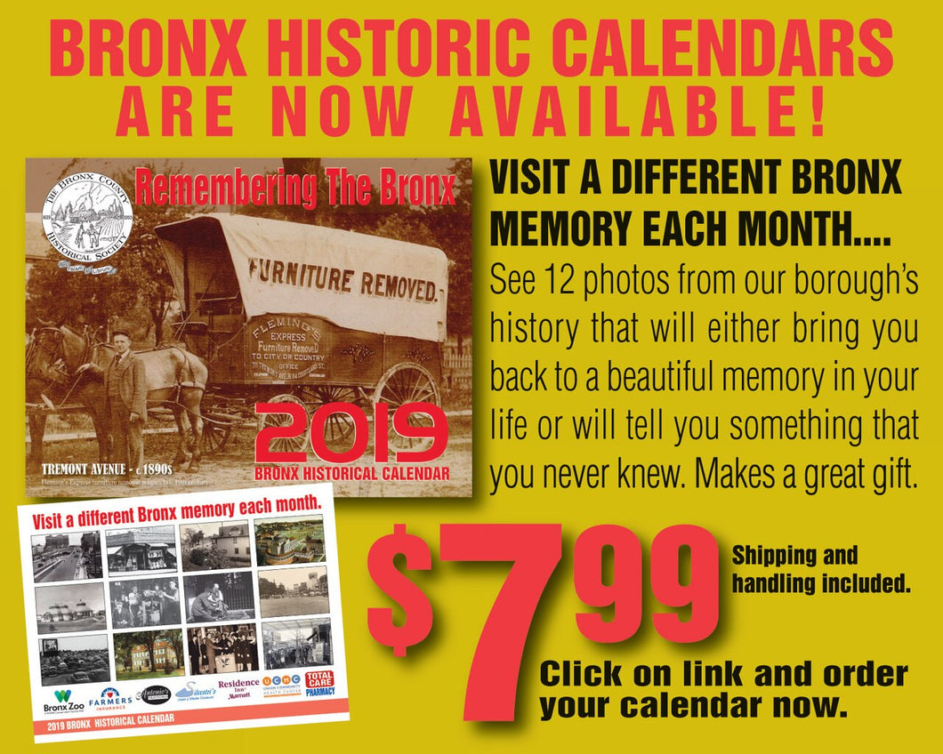 2019 Bronx Historic Calendar (shipping included)