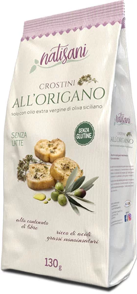 Natisani - Crostini All'Origano - gluten free - 130 gr (4.58 oz)