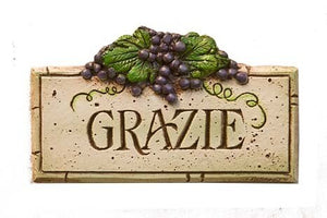 GRAZIE - Wall Plaque