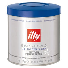 Load image into Gallery viewer, illy iperEspresso Capsules - Lungo -  21 Capsules (Blue)