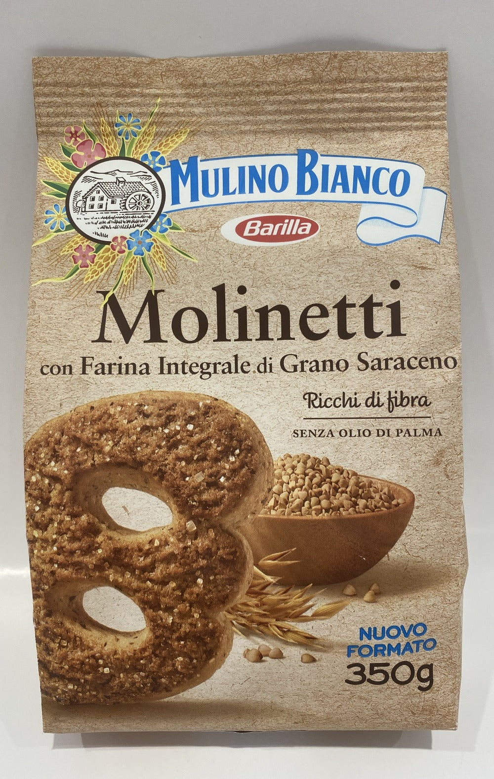 Mulino Bianco -  Molinetti Whole Wheat Biscuits - 12.35 oz