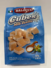 Load image into Gallery viewer, Balocco - Cubes Milk Vanilla Wafers - 8.82 oz