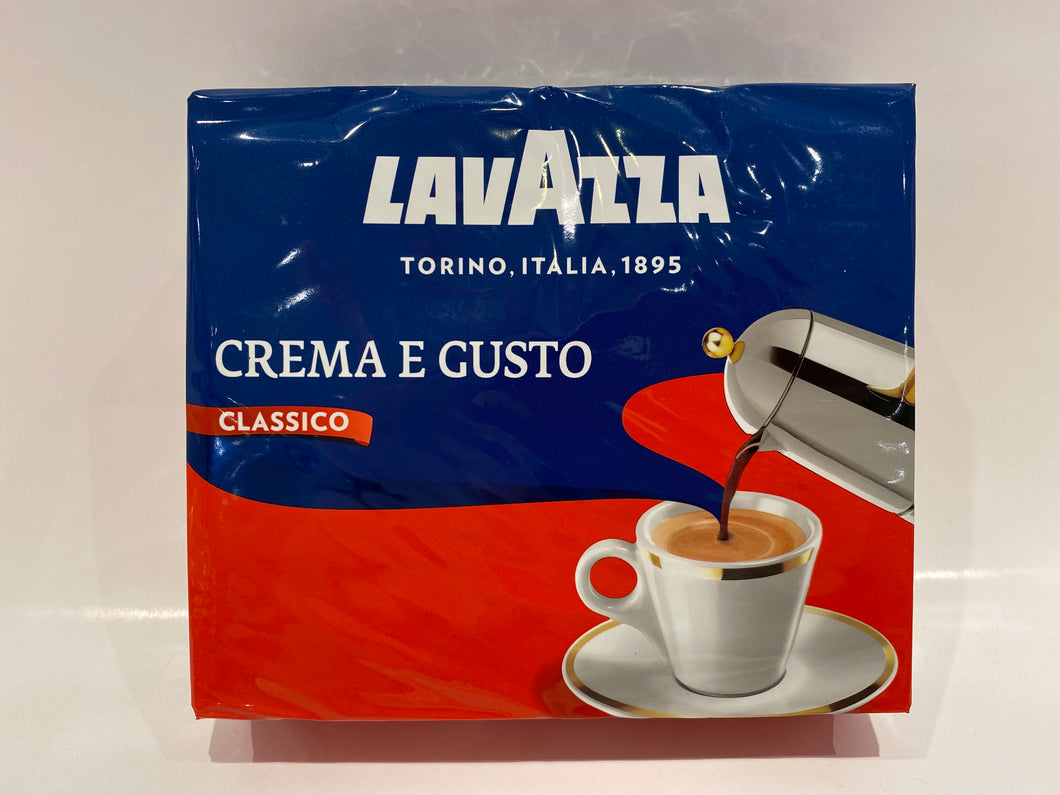 Lavazza Crema & Gusto (gusto classico) 2 x 250g (double pack) - Ground Espresso Coffee