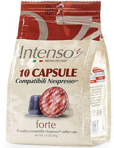 Intenso Forte Capsules - 10/Bag - Compatible with Nespresso® Machines