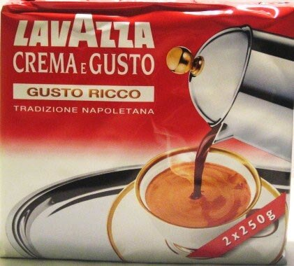 Lavazza - Cream e Gusto - Gusto Ricco - Two 8.8oz Bricks (Double Pack)